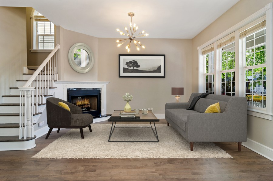 Real Estate Photography - 3545 N Damen, Chicago, IL, 60618 - Living Room