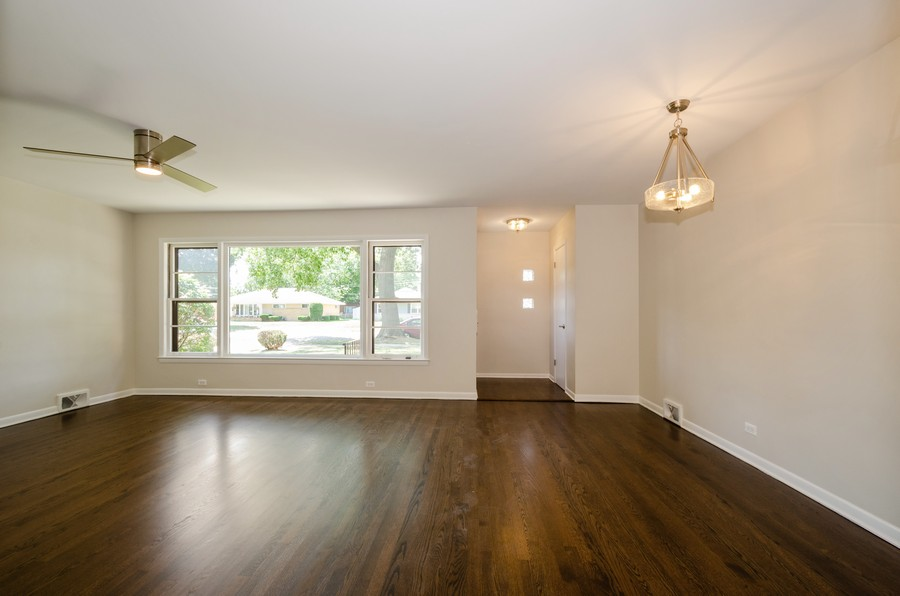 Real Estate Photography - 639 Forestview, Park Ridge, IL, 60068 - Living Room / Dining Room