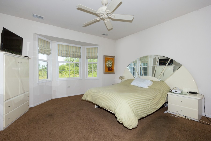 Real Estate Photography - 17208 Como Ave., Lockport, IL, 60441 - Master Bedroom