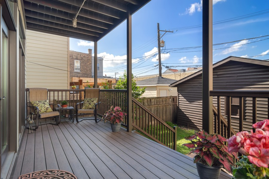 Real Estate Photography - 2306 W Giddings St, Chicago, IL, 60625 - Deck