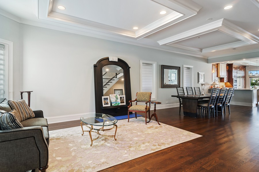 Real Estate Photography - 2306 W Giddings St, Chicago, IL, 60625 - Living Room/Dining Room