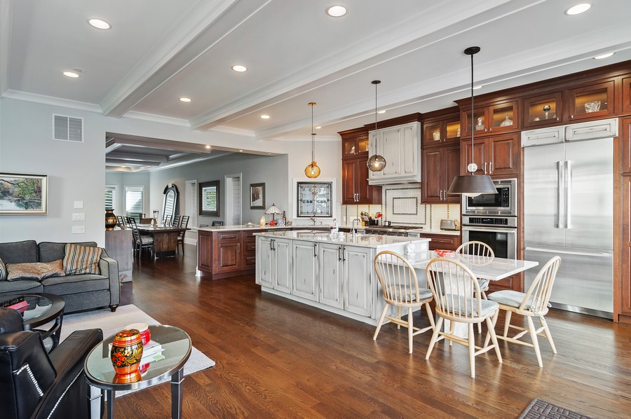 Real Estate Photography - 2306 W Giddings St, Chicago, IL, 60625 - Family Room / Kitchen