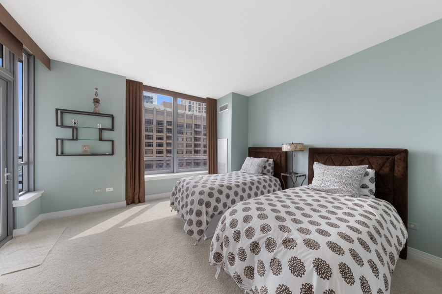 Real Estate Photography - 600 N. Lake Shore Drive, Unit 2412, Chicago, IL, 60611 - 2nd Bedroom