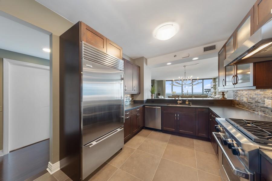 Real Estate Photography - 600 N. Lake Shore Drive, Unit 2412, Chicago, IL, 60611 - Kitchen