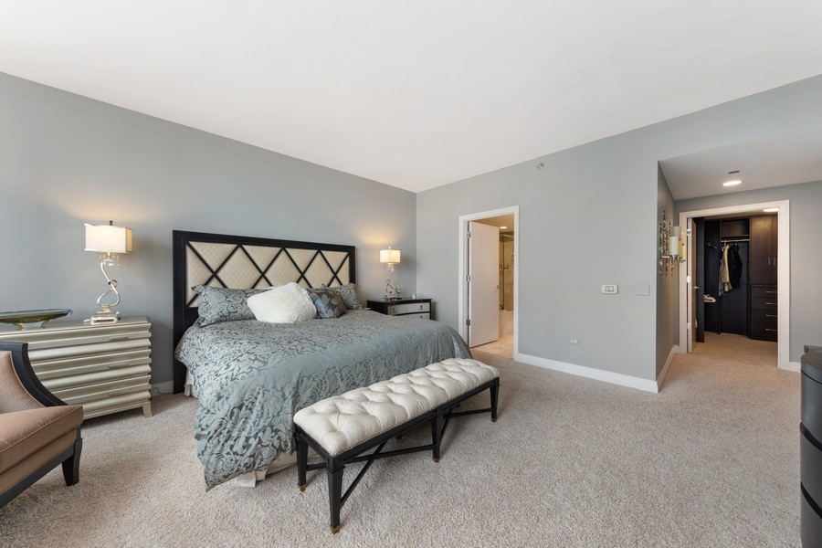 Real Estate Photography - 600 N. Lake Shore Drive, Unit 2412, Chicago, IL, 60611 - Master Bedroom