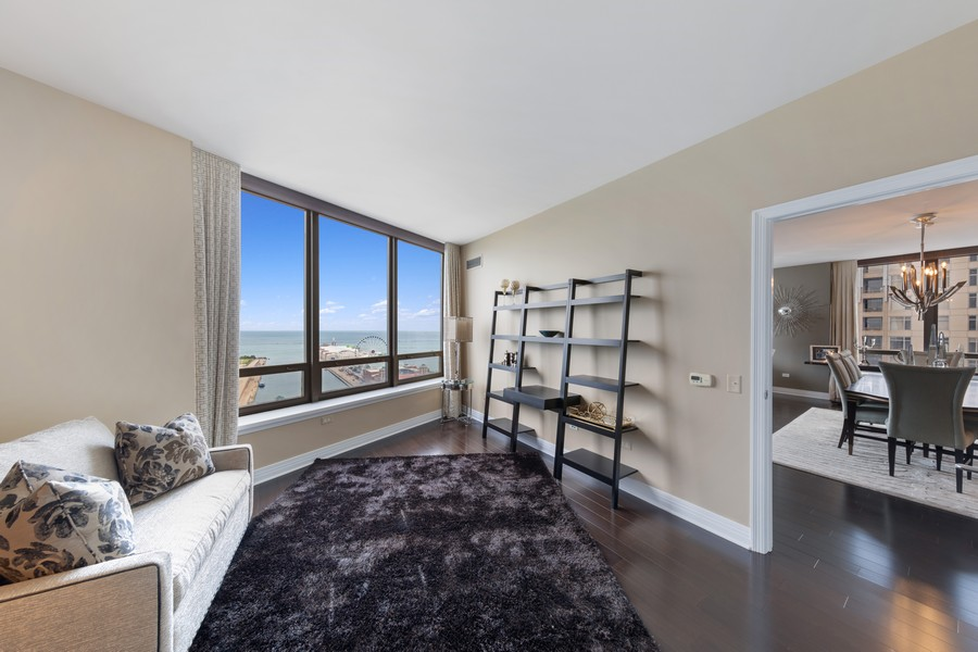 Real Estate Photography - 600 N. Lake Shore Drive, Unit 2412, Chicago, IL, 60611 - Bedroom