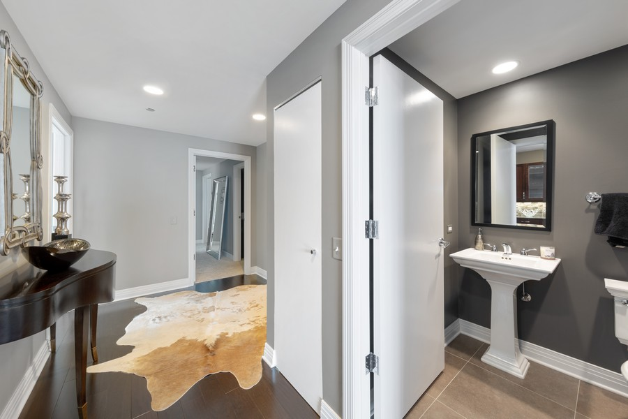 Real Estate Photography - 600 N. Lake Shore Drive, Unit 2412, Chicago, IL, 60611 - Powder Room