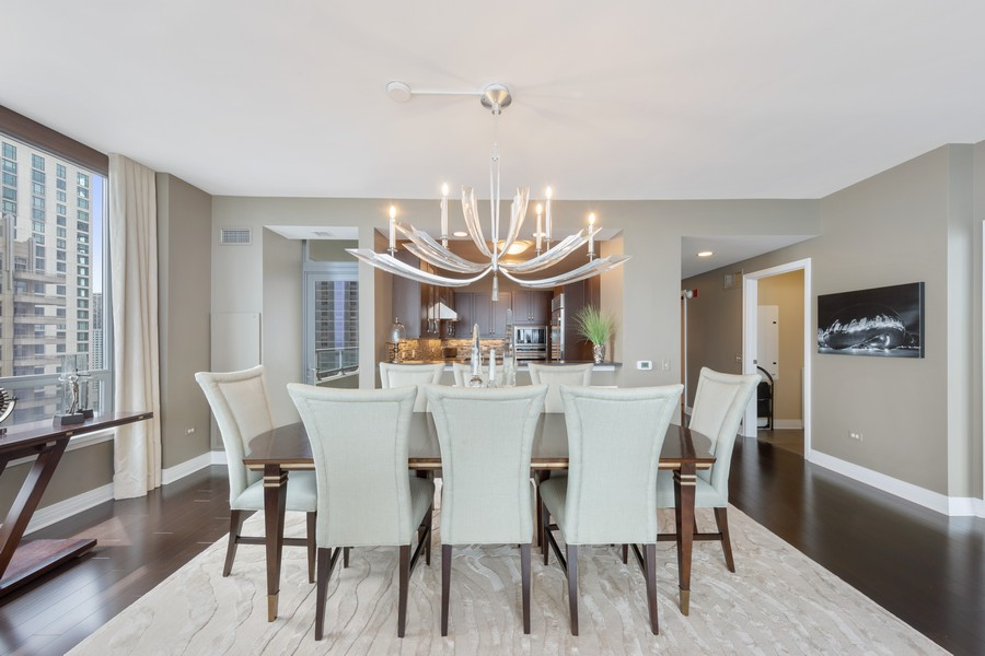 Real Estate Photography - 600 N. Lake Shore Drive, Unit 2412, Chicago, IL, 60611 - Dining Room