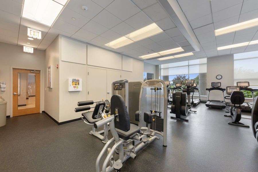 Real Estate Photography - 600 N. Lake Shore Drive, Unit 2412, Chicago, IL, 60611 - Fitness Room