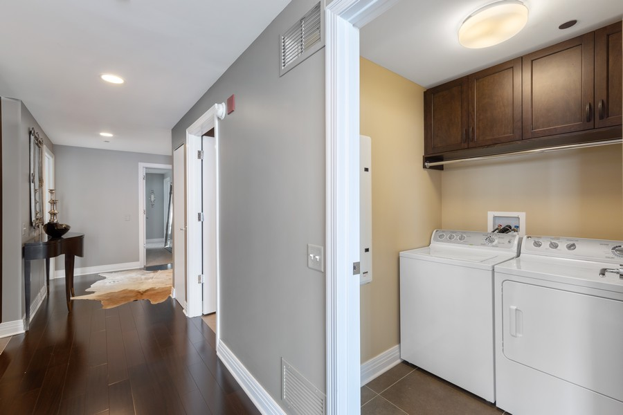Real Estate Photography - 600 N. Lake Shore Drive, Unit 2412, Chicago, IL, 60611 - Laundry Room