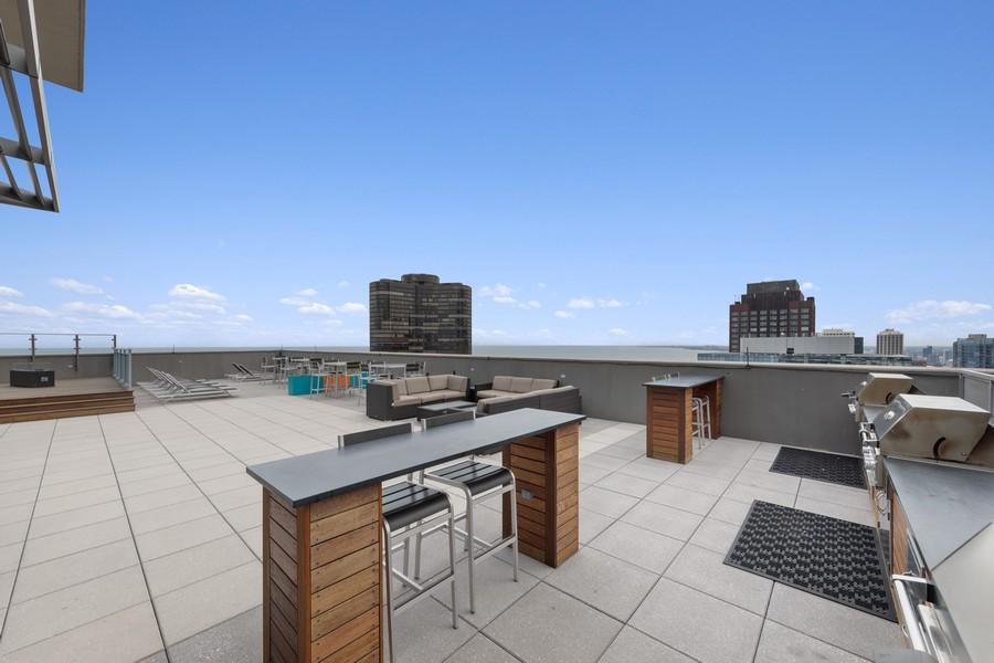 Real Estate Photography - 600 N. Lake Shore Drive, Unit 2412, Chicago, IL, 60611 - Deck