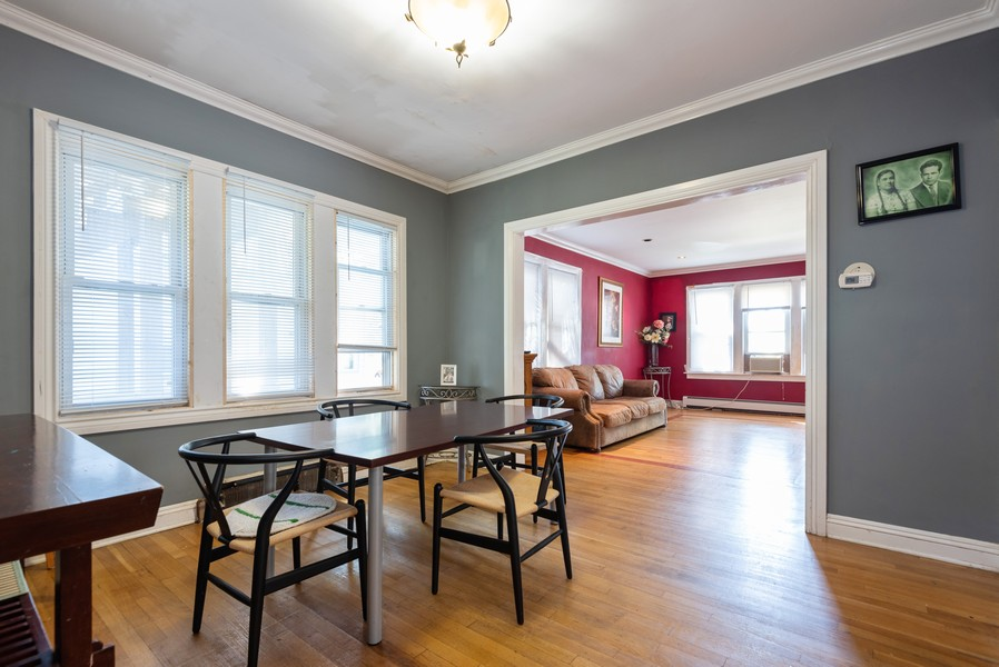 Real Estate Photography - 1747 Hartrey Avenue, Evanston, IL, 60201 - Living Room / Dining Room