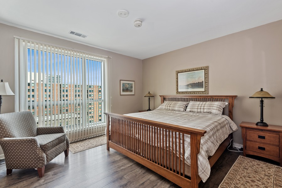 Real Estate Photography - 1522 N Prospect Ave Unit 1104, Milwaukee, WI, 53202 - Master Bedroom