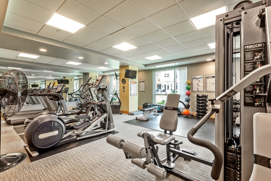 Real Estate Photography - 1522 N Prospect Ave Unit 1104, Milwaukee, WI, 53202 - Exercise Room