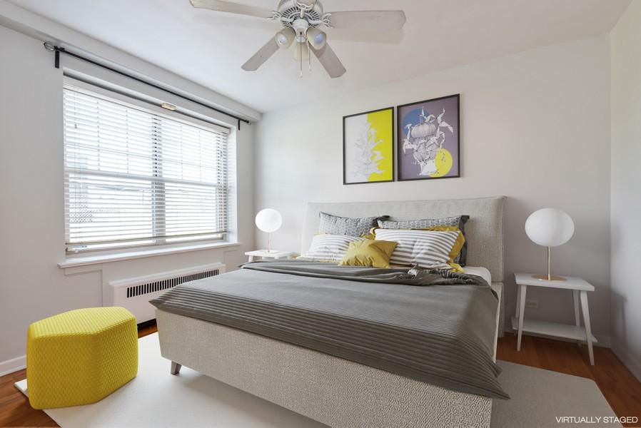 Real Estate Photography - 2732 Hampton Parkway #DG, Evanston, IL, 60201 - Bedroom with west exposure