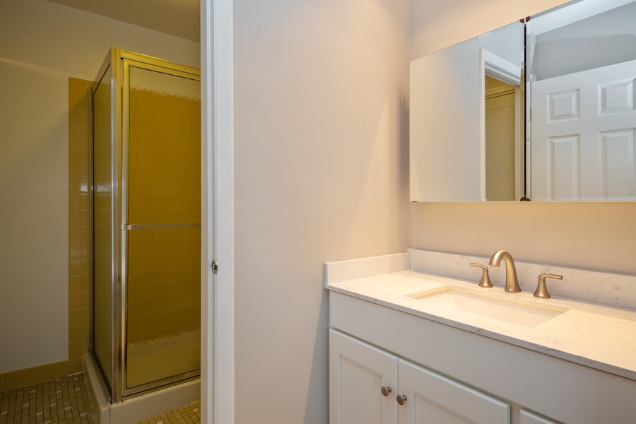 Real Estate Photography - 1314 S. New Wilk Road, Unit 1C, Arlington Heights, IL, 60005 - Master Bathroom