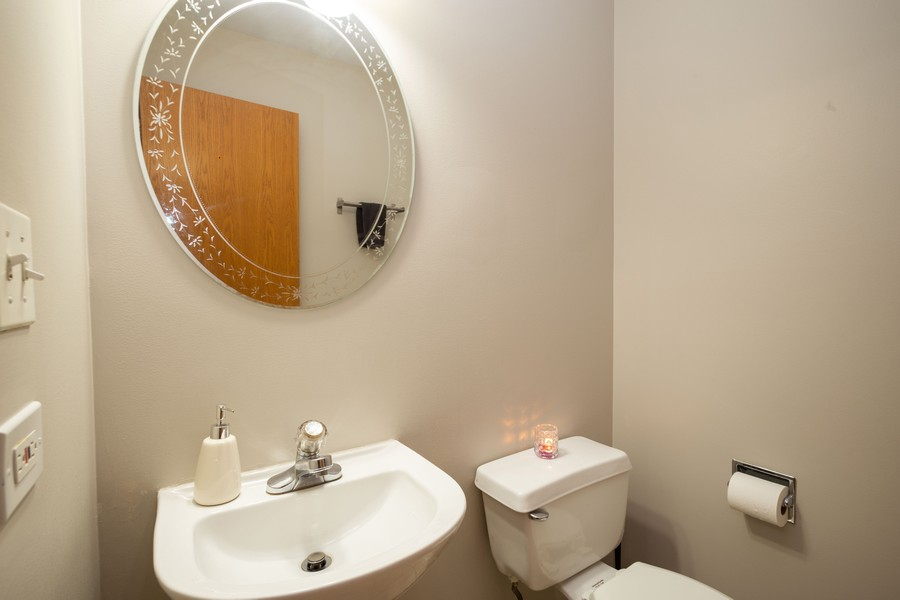 Real Estate Photography - 1955 Lilac Ct, Schaumburg, IL, 60193 - Powder Room