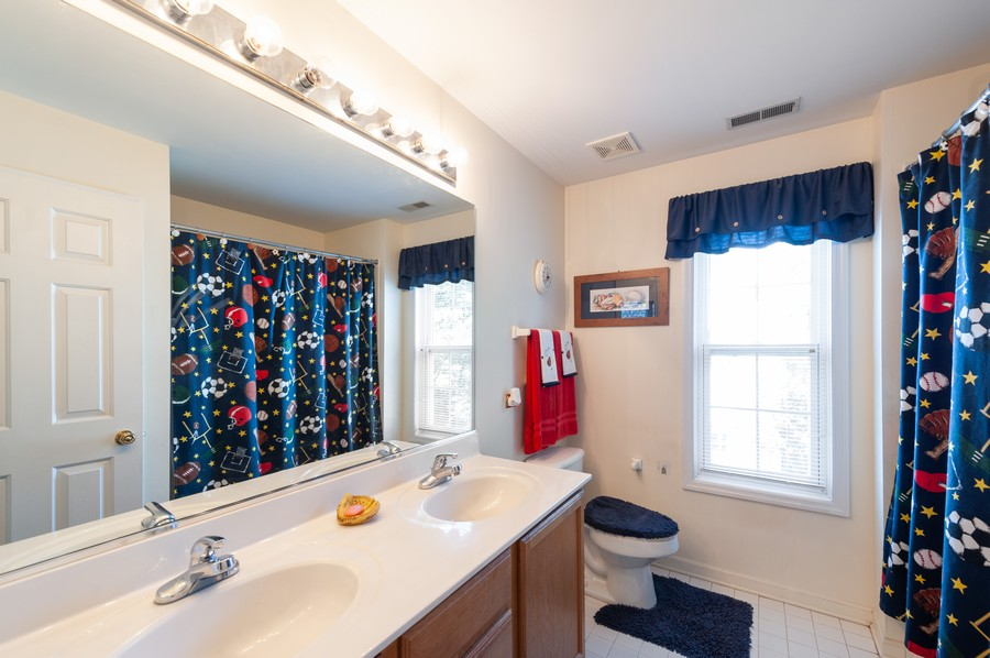 Real Estate Photography - 34032 N. Wooded Glen, Grayslake, IL, 60030 - 2nd Floor Hall Bathroom