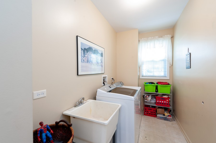 Real Estate Photography - 34032 N. Wooded Glen, Grayslake, IL, 60030 - 1st Floor Laundry Room