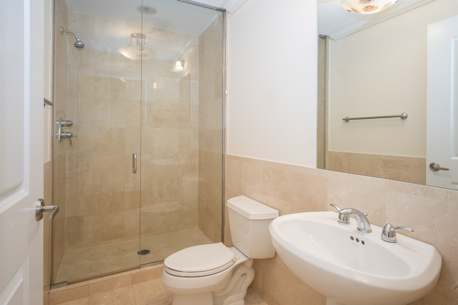 Real Estate Photography - 55 E Erie, Unit 3203, Chicago, IL, 60611 - 3rd Bathroom
