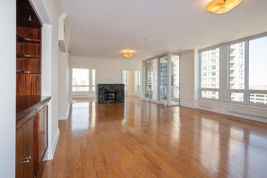 Real Estate Photography - 55 E Erie, Unit 3203, Chicago, IL, 60611 - Living Room