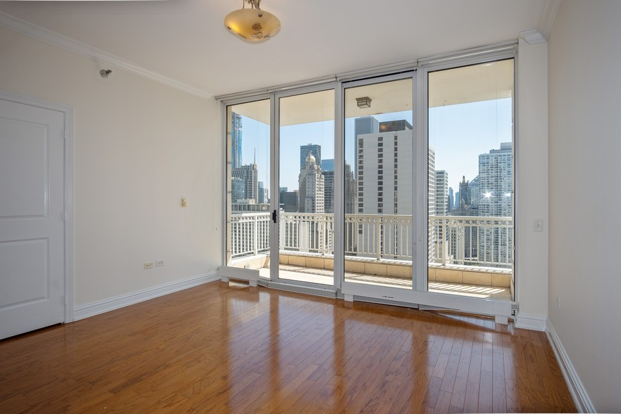 Real Estate Photography - 55 E Erie, Unit 3203, Chicago, IL, 60611 - 2nd Bedroom
