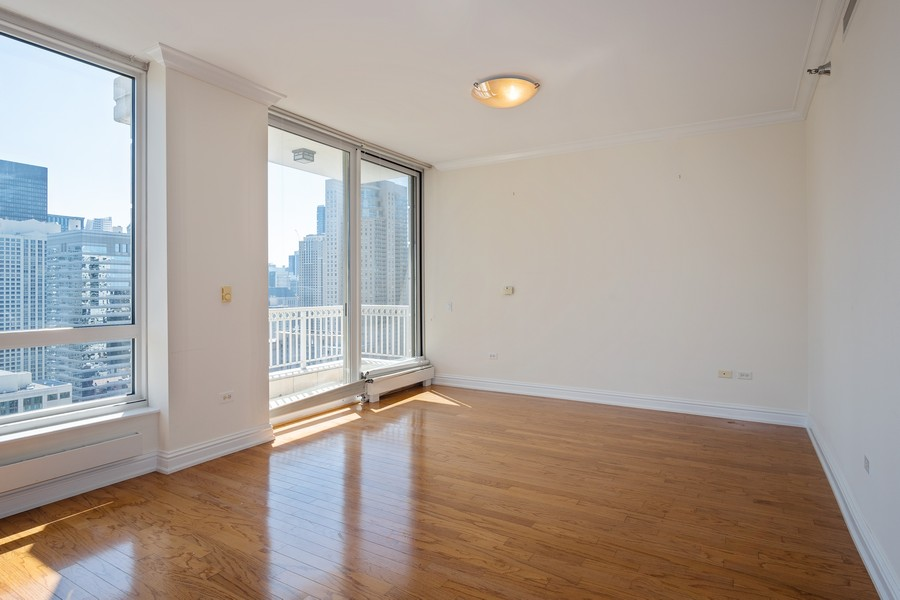 Real Estate Photography - 55 E Erie, Unit 3203, Chicago, IL, 60611 - Master Bedroom