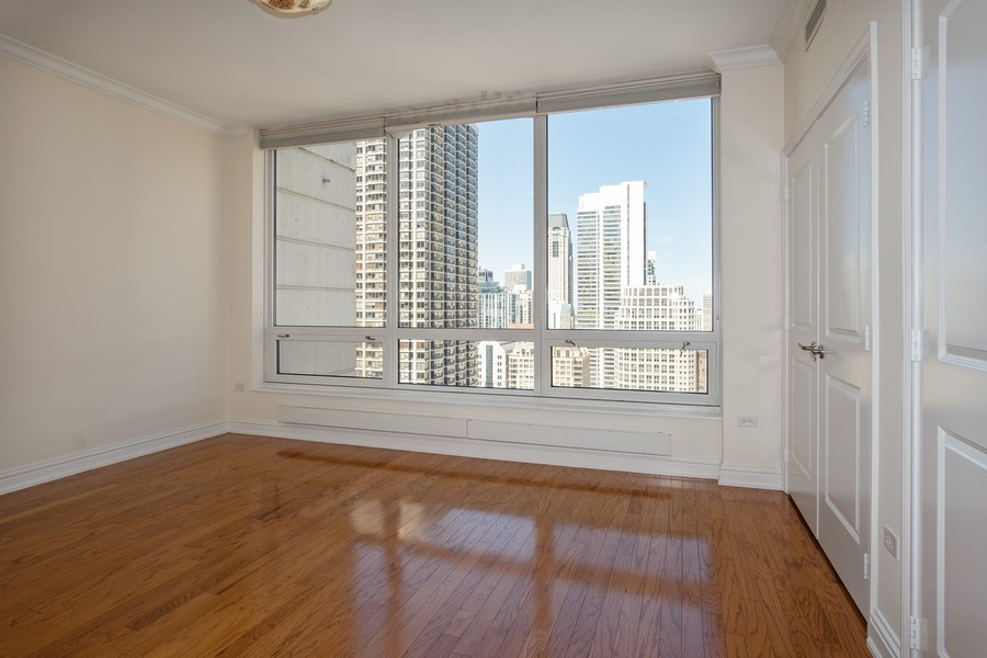 Real Estate Photography - 55 E Erie, Unit 3203, Chicago, IL, 60611 - Bedroom