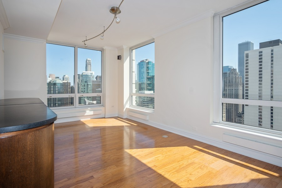 Real Estate Photography - 55 E Erie, Unit 3203, Chicago, IL, 60611 - Family Room
