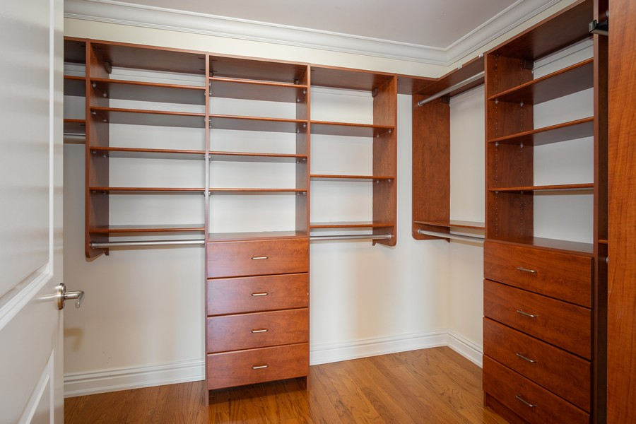 Real Estate Photography - 55 E Erie, Unit 3203, Chicago, IL, 60611 - Master Bedroom Closet