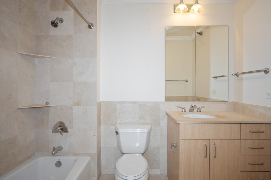 Real Estate Photography - 55 E Erie, Unit 3203, Chicago, IL, 60611 - 2nd Bathroom
