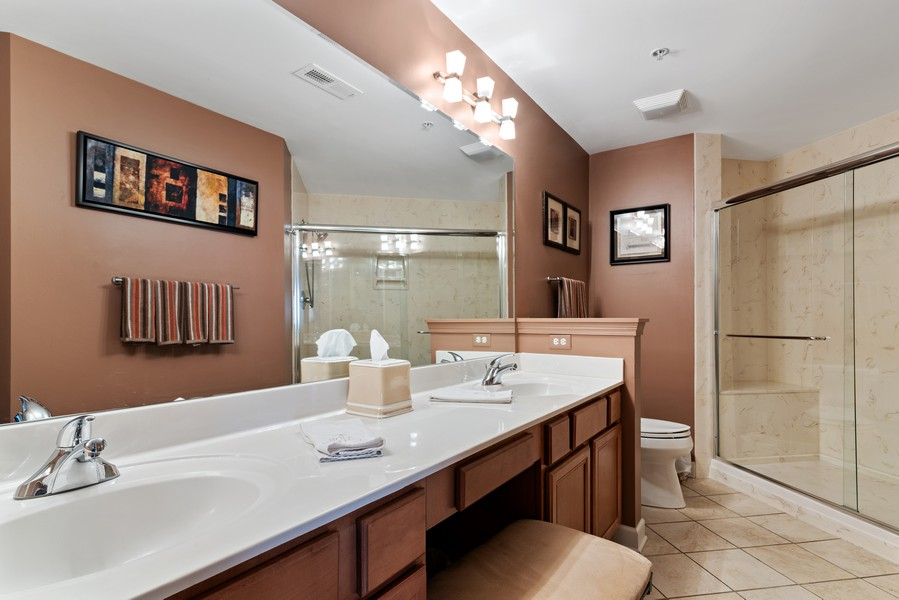 Real Estate Photography - 610 Robert York, Deerfiled, IL, 60015 - Master Bathroom