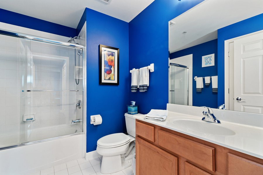 Real Estate Photography - 610 Robert York, Deerfiled, IL, 60015 - 2nd Bathroom