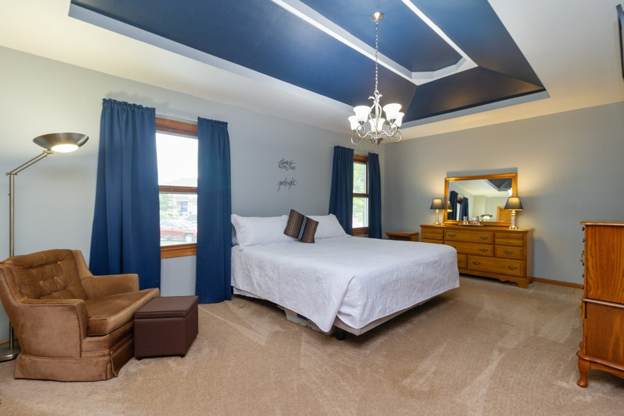 Real Estate Photography - 1956 Claire Ct, Bourbanias, IL, 60914 - Master Bedroom