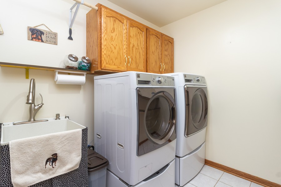 Real Estate Photography - 1956 Claire Ct, Bourbanias, IL, 60914 - Laundry Room