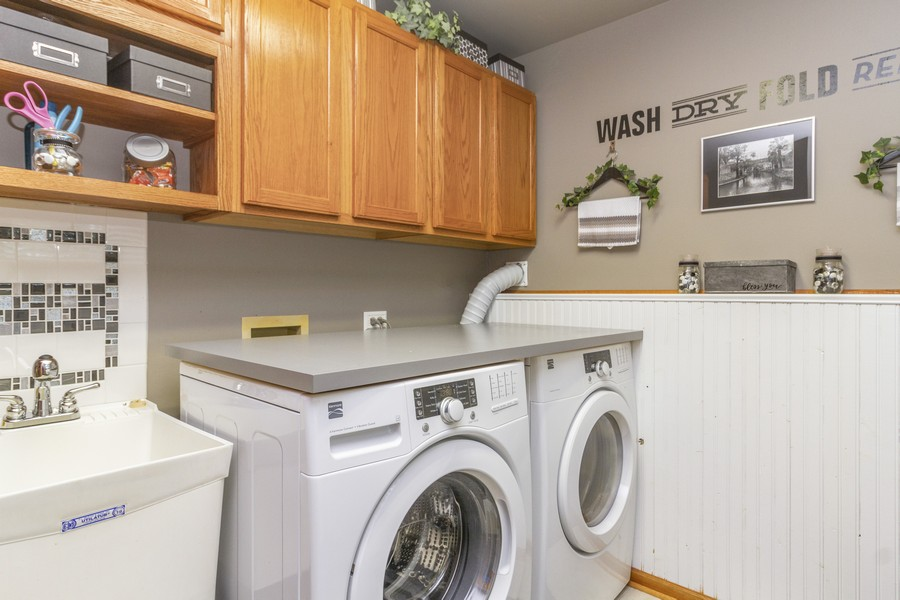 Real Estate Photography - 5 Layden Circle, Manteno, IL, 60950 - Laundry Room