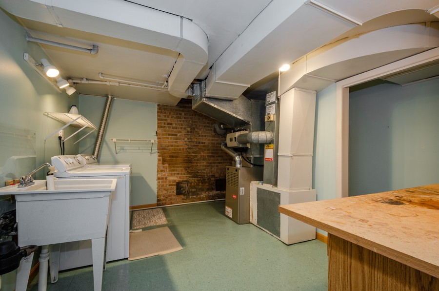Real Estate Photography - 6541 N. Caldwell, Chicago, IL, 60646 - Laundry Room