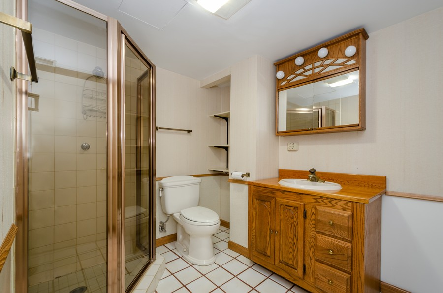 Real Estate Photography - 6541 N. Caldwell, Chicago, IL, 60646 - 2nd Bathroom