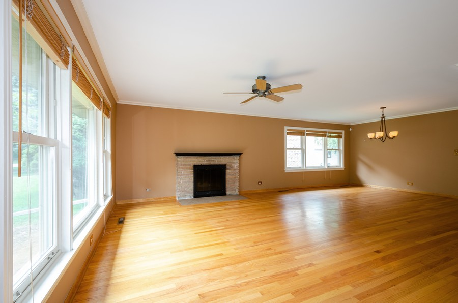 Real Estate Photography - 6541 N. Caldwell, Chicago, IL, 60646 - Living Room / Dining Room