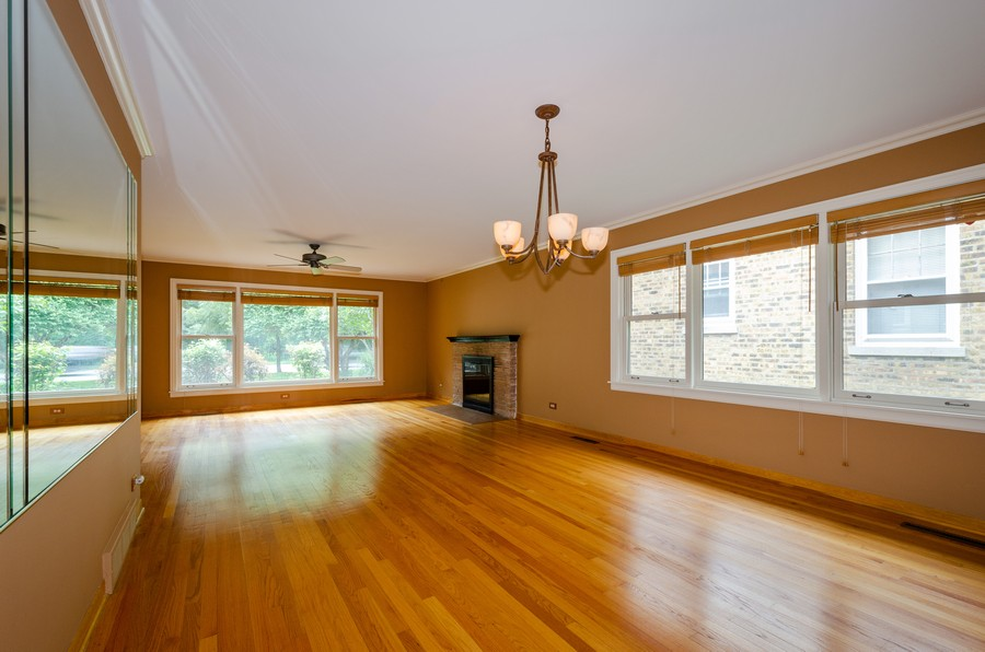 Real Estate Photography - 6541 N. Caldwell, Chicago, IL, 60646 - Living Room/Dining Room