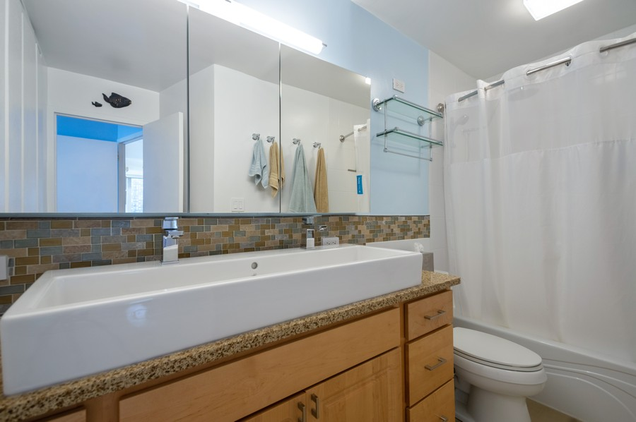 Real Estate Photography - 4250 N Marine, Unit 1716, Chicago, IL, 60618 - Master Bathroom