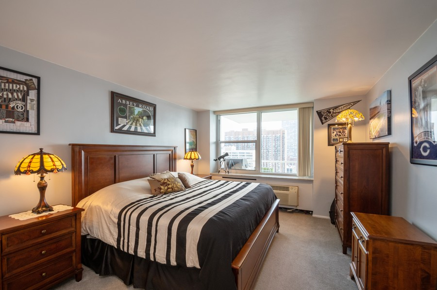 Real Estate Photography - 4250 N Marine, Unit 1716, Chicago, IL, 60618 - 2nd Bedroom