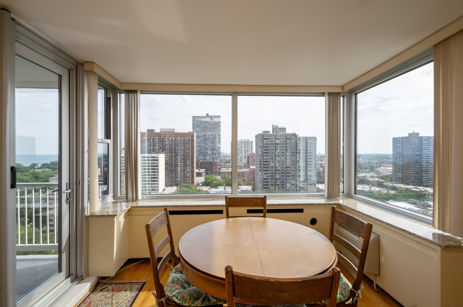 Real Estate Photography - 4250 N Marine, Unit 1716, Chicago, IL, 60618 - Dining Room