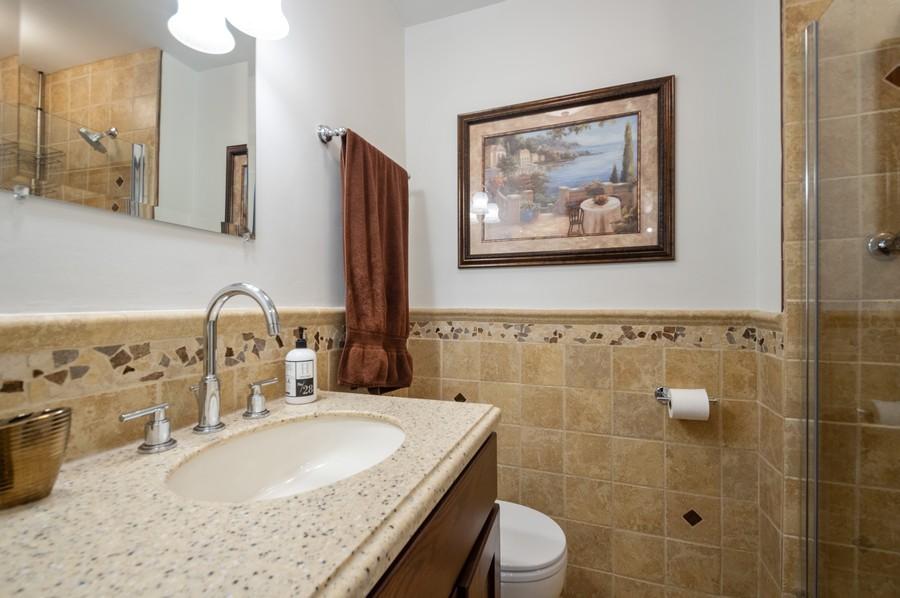 Real Estate Photography - 4250 N Marine, Unit 1716, Chicago, IL, 60618 - 2nd Bathroom