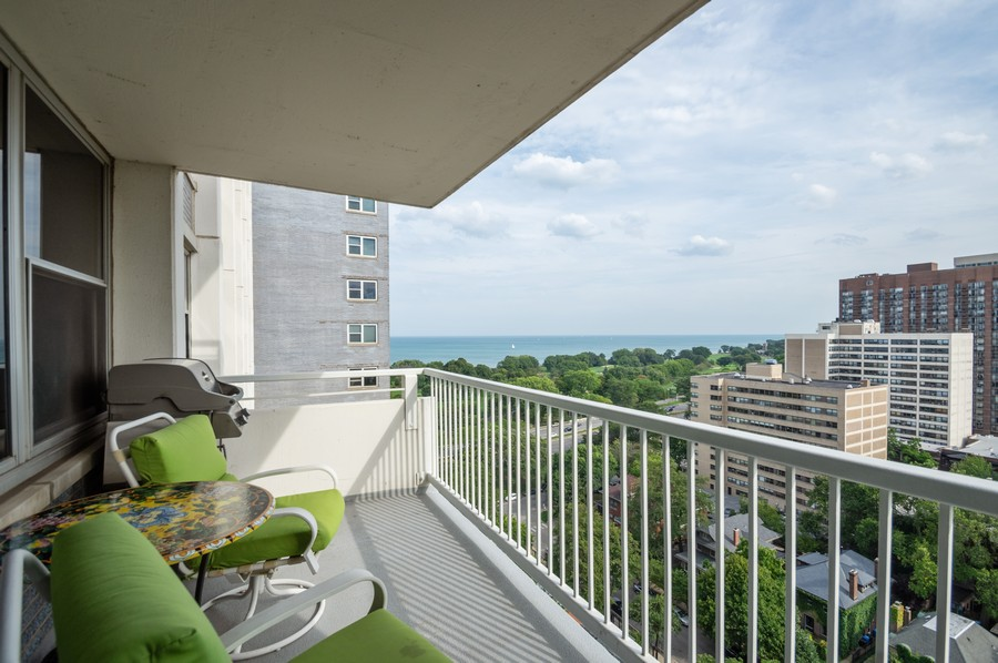 Real Estate Photography - 4250 N Marine, Unit 1716, Chicago, IL, 60618 - Balcony