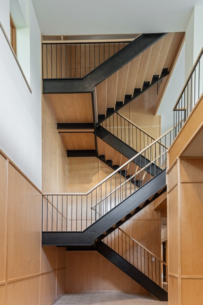 Real Estate Photography - 32 Blodgett Avenue, Clarendon Hills, IL, 60514 - Very sturdy  and thick maple & beamed staircases