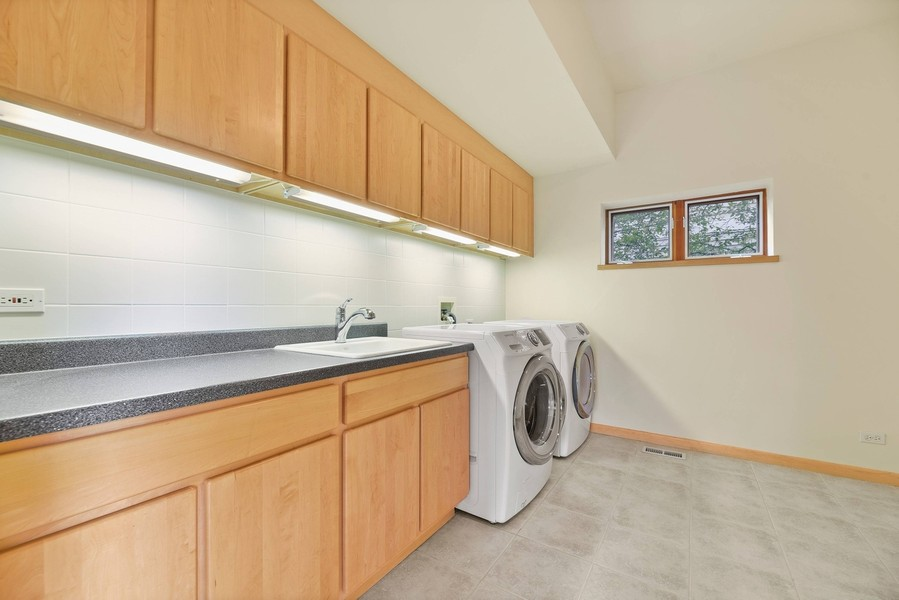 Real Estate Photography - 32 Blodgett Avenue, Clarendon Hills, IL, 60514 - Huge first floor Laundry Room w/Washer & Dryer