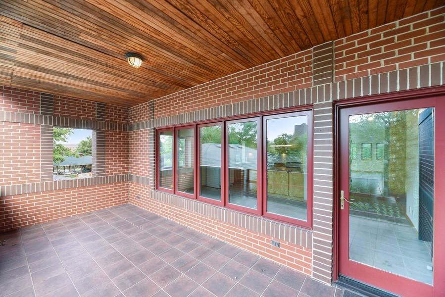 Real Estate Photography - 32 Blodgett Avenue, Clarendon Hills, IL, 60514 - Very private covered Balcony with tons of light