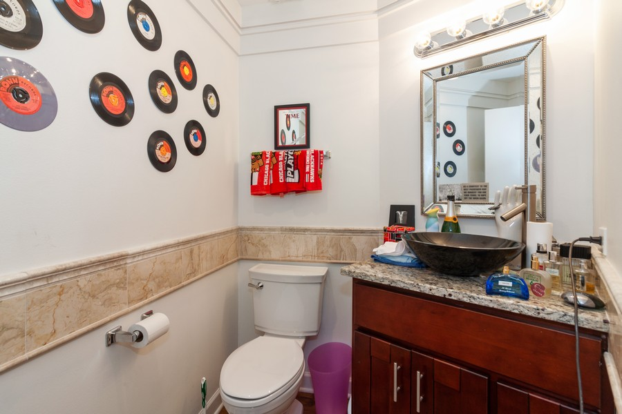 Real Estate Photography - 6 Maple Tree Ct, Elmhurst, IL, 60126 - Powder Room