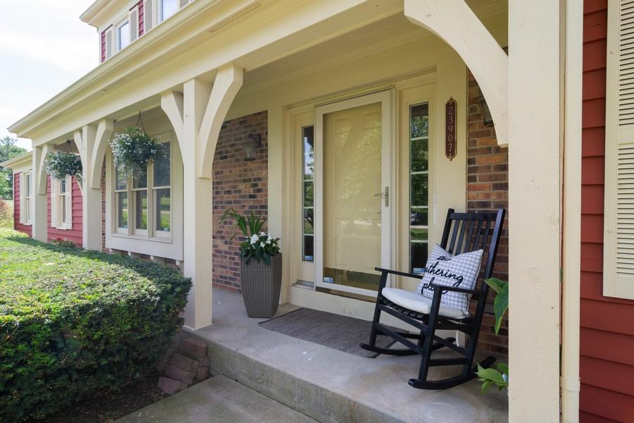 Real Estate Photography - 23907 Lancaster Ct, Deer Park, IL, 60010 - Porch